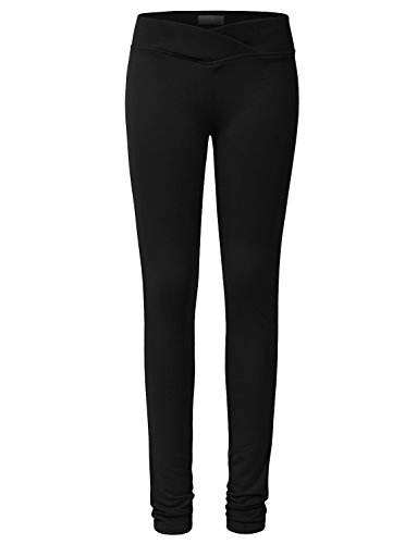 NE PEOPLE Womens Solid Color Basic Cotton Spandex Yoga Pants S-3XL
