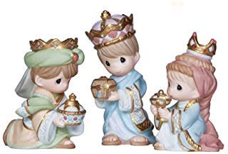 - Precious Moments We Three Kings - 3 Piece Figurine Set - Porcelain Christmas New 2013 131033-PM