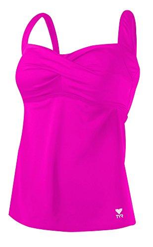 Tyr Twisted Bra Tankini Pink Size 18