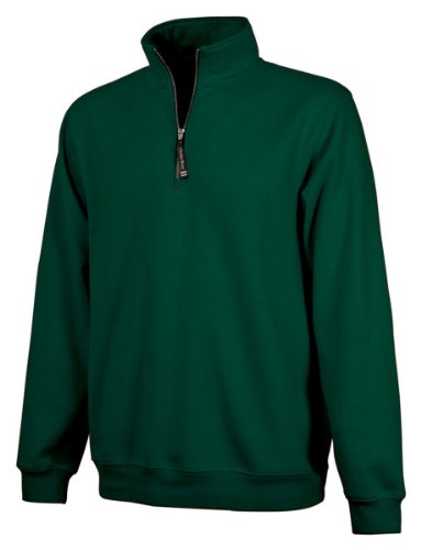 Charles River Apparel Unisex-Adult's Crosswind Quarter Zip Sweatshirt (Regular & Big-Tall Sizes), Forest, 3XL ()