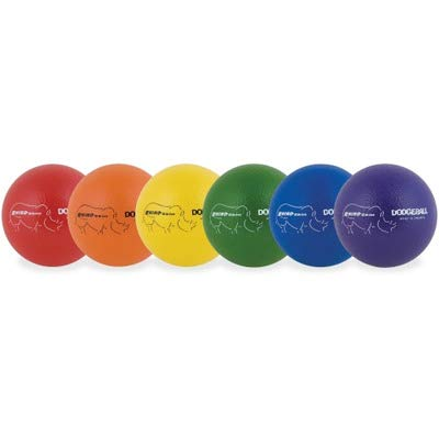 Champion Sports RXD6SET Rhino Skin Low Bounce Dodgeball, 6-Inch - Set of 6, Multi-Color ()