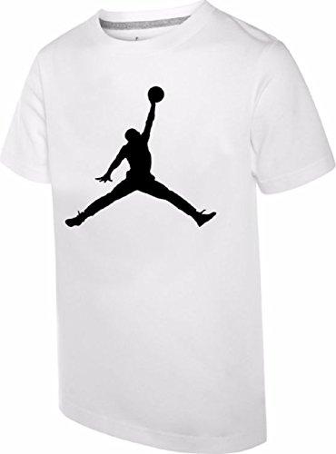NIKE Air Jordan Boys' Jumpman T-Shirt (White, Large) by NIKE