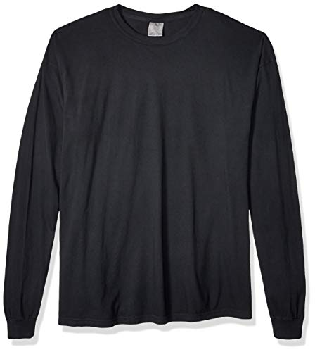 - Comfort Colors Men's Adult Long Sleeve Tee, Style 6014, Black, Small