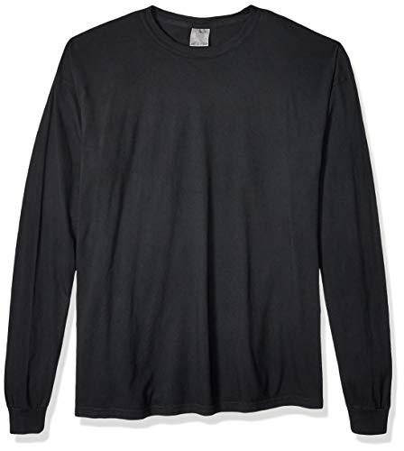 Comfort Colors Men's Adult Long Sleeve Tee, Style 6014, Black, Large ()