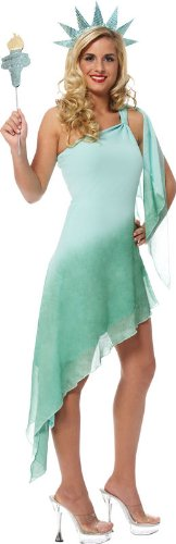 Miss Liberty Adult Halloween Costume Size 8-10 -
