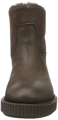 Bottes Femme Brown black Amsterdam Shabbies dark Marron 3084 Noir Souples 1t518xqw