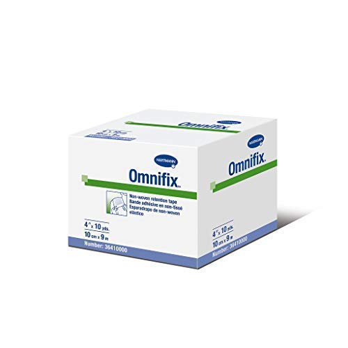 Hartmann 36410000 Omnifix Latex-Free Non-Woven Dressing Retention Tape, Unstretched, 4'' Width, 10 yd. Length by Hartmann