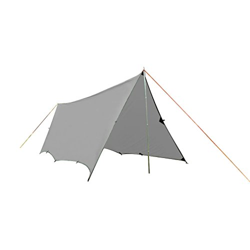 OUTAD Lightweight Rain Tarp, Waterproof Shelter, 14.8 x 20ft/4.5 x 6m, Weight: 4.3lb/1.95kg