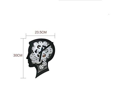 Amazon.com: Creative clock featuring the human head art gear wall clock the brain decoration gear wall clock the living room Bar clock caf茅 table-A: ...