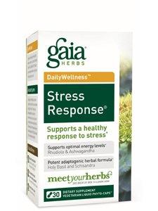 Gaia Herbs Stress Response Formula Liquid Caps, 30 ct