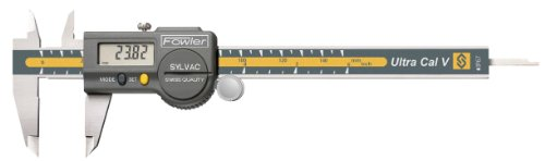 """Fowler Stainless Steel Ultra-Cal V Electronic Caliper, 54-100-067-1, 6"""" Maximum Measurement, 0.0005""""/.01mm Resolution"""