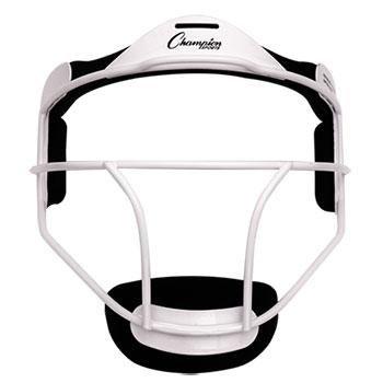 Champion Sports Adult Softball Fielder's Face Mask, White
