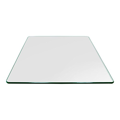 - Square Glass Table Top 24 Inch Custom Annealed Clear Tempered, 3/8