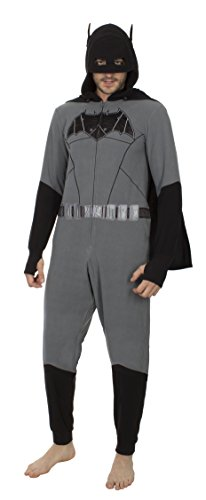 Underboss Mens Batman Drop Seat Union Suit Black/Grey Small/Medium]()