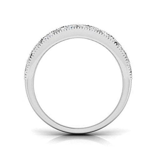 18K Or Blanc, 0,48carat Diamant Taille ronde (IJ | SI) en diamant
