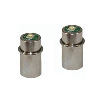 Mag Lite LED Bulb Maglight LED Conversion Kit LED Replacement Bulbs LED Flashlight Bulb White 2-3 C and D Cells 2-Pack