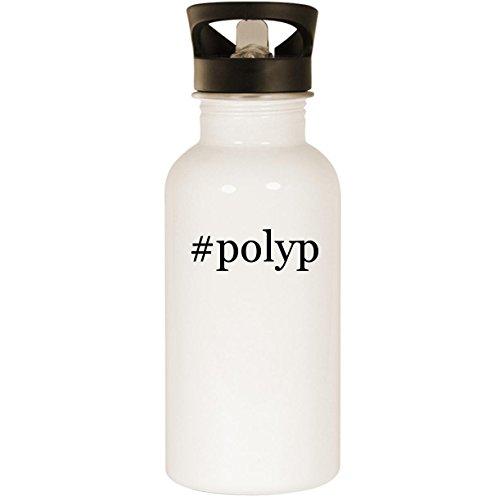 (#polyp - Stainless Steel Hashtag 20oz Road Ready Water Bottle, White)