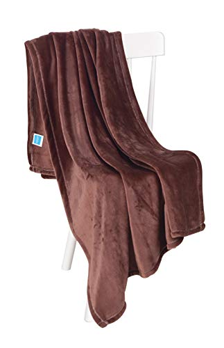 Chiara Rose Super Soft Throw Blanket Flannel Fleece Cozy Plush Velvet Faux Fur Fluffy Lightweight Solid Mink