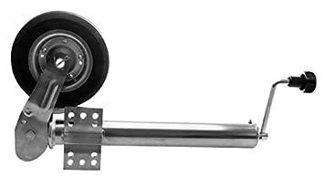 Rueda Jockey para remolque plegable 60 mm, carga 400 kg.