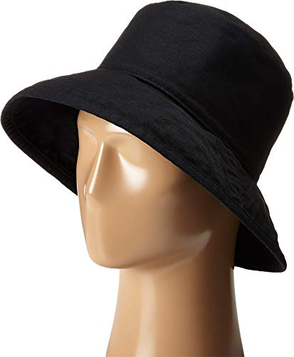 Hat Attack Women's Washed Cotton Crusher Black Hat One Size ()