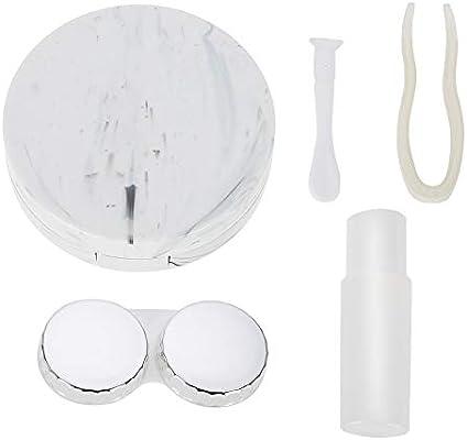 Caja de lentes de contacto, Estuche portátil para lentes de remojo ...