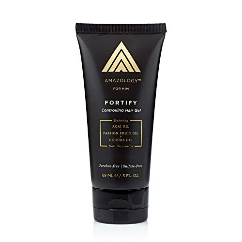 - Amazology Men's Controlling Hair Gel for Men - 3 oz.