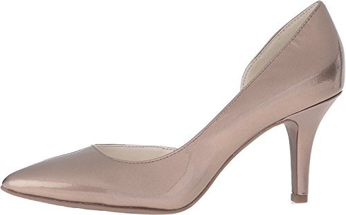 Anne Klein Womens Yolden Leather Pointed Toe D-Orsay Pumps, Tan, Size 6.0