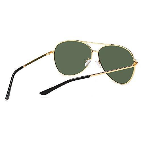 1d1ec7c98d52f ... SUNGAIT UV400 Aviator Sunglasses for Men Women Polarized Oversized Sun  Glasses Classic Metal Frame Gold Frame ...