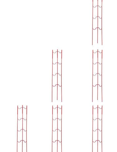 Stacking Tomato Ladders, Tomato Supports for The Garden Set of 6, Heavy Gauge Steel 22