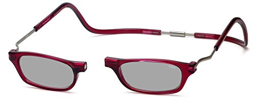 Clic XXL Magnetic Front connection Reading Sunglasses in Bordeaux - Sunglasses Clics