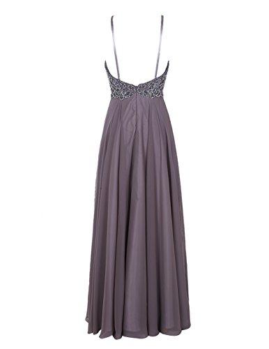 Bbonlinedress Vestido Mujer De Fiesta Banquete Largo De Gasa Cuentas Con Tirantes Finos Rubor