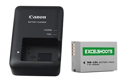Excelshots-CB-2LC-Battery-Charger-NB-10L-Li-ion-compatible-Battery-for-Canon-PowerShot-SX40-HS-SX50-HS-SX60-HS-G1X-G3X-G15-G16-Digital-Camera
