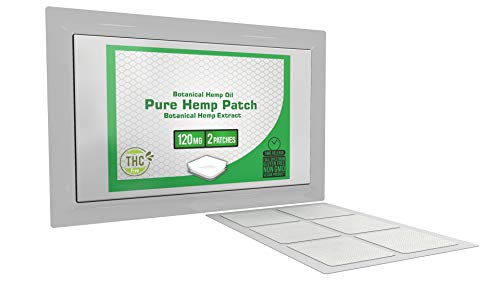 Pure Hemp Oil Patch Topical Hemp Patch - 2 Patches - 120mg Each (240mg Total)