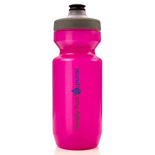 Simply Pure Hydration - Purist Water Bottle by Specialized Bikes (Watergate Cap, Translucent ), Pink, 22 oz.