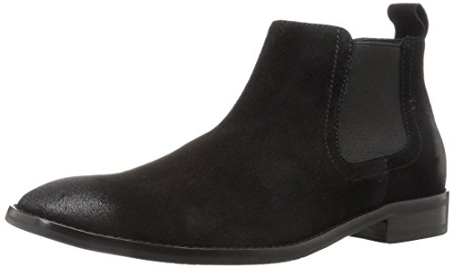 206 Collective Men's Capitol Ankle Chelsea Boot, Black Burnish, 10 D US by 206 Collective