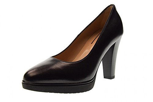 Zapatos Alto 100 Nero P805000d Dcollet Giardini De Negro Tacón 5xwqq74RB