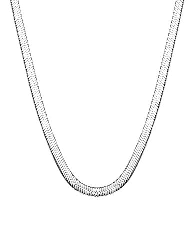 Jstyle Stainless Steel Necklace for Men Women Nickel-Free Herringbone Chain 18