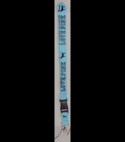 Victoria's secret love pink lanyard Key Chain Neck Strap with Dogs (Blue/Black)