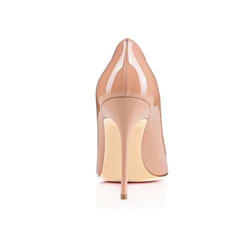 Soir Chaussures EDEFS Fête Talon Sexy Beige Sexy Escarpins Femme Stiletto Aiguille 0xq0RTwr