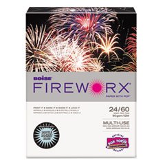Boise Fireworx Colored Paper, 24 Lbs, 8-1/2 x 11 Inches, Bottle Rocket Blue, 500 Sheets/Ream (MP2241BE)
