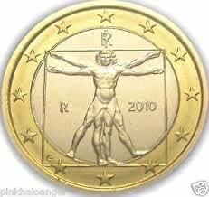 Amazon.com : Italian Euro Coin - Leonardo da Vinci drawing