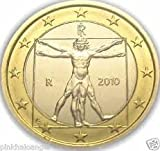 Italian Euro Coin - Leonardo da Vinci drawing of the Vitruvian Man
