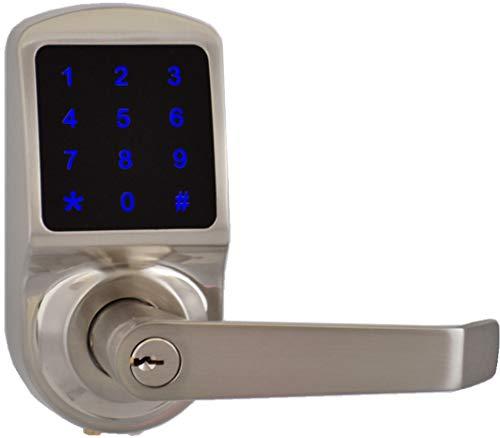 SCYAN X3SN Touchscreen Keyless Keypad Door Lock, Satin Nickel, Non Handed