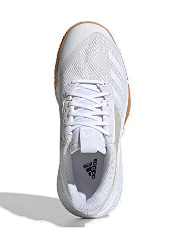 adidas Women's Crazyflight Team Volleyball Shoe, White/White/Gum, 7 M US