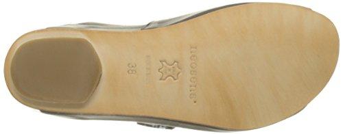 Neosens S951 Restored Skin Ebony Lairen, Sandali con Piattaforma Donna Nero (Ebony)