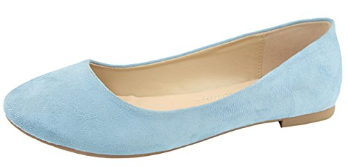 Ballet Round Slip Classic Women's Blue Bella on Marie Baby Toe Flat wXS60p