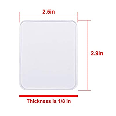 Aaskuu 15Pcs Double-Sided Gripping Pads Reusable Sticky Pads Washable Gel Adhesive Pads Anti-Slip PU Super Magic for Phone Holder Car Pictures Office Home Use, Clear
