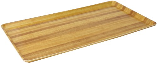 (Carlisle 1222LWFG065 Fiberglass Glasteel Wood Grain Low Edge Tray, 21.06