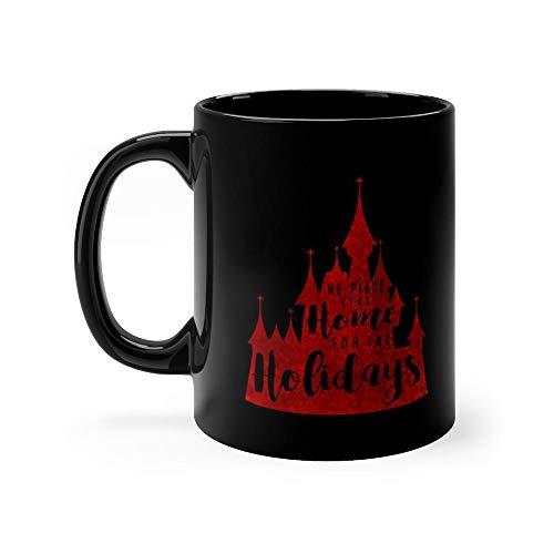 Home for the Holidays Red Mug Coffee Mug 11oz Gift Tea Cups 11oz Ceramic Funny Gift Mug -