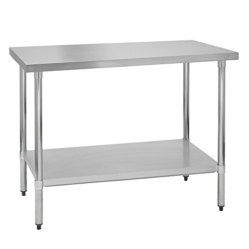 Fenix Sol Stainless Steel Commercial Kitchen Work Prep Table, 30